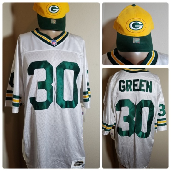 online store 48696 68c84 NFL Green Bay Packers Football Jersey #30 & Hat Boutique